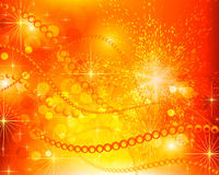 Abstrakter roter gelber Hintergrund Stockfotografie