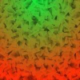 Abstrakter roter grüner Kubismus Stockfotografie