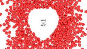 Abstrakter roter Herz bokeh Hintergrund für Valentinstag 3d übertragen Abbildung 3D stockfoto