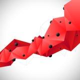 Abstrakter roter Hintergrund Stockfoto