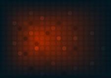 Abstrakter roter Hintergrund mit Kreisen und breiter undeutlicher heller Stelle Lizenzfreie Stockfotos