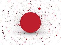 Abstrakter roter Kreis punktiert Hintergrund stock abbildung