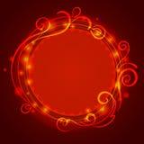 Abstrakter roter mystischer Spitzehintergrund mit Strudel Stock Abbildung