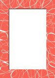 Abstrakter roter Rahmen mit Gekritzeln Lizenzfreies Stockfoto