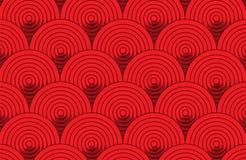 Abstrakter roter runder Mustertapetenhintergrund vektor abbildung