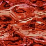 Abstrakter roter, Schwarzweiss-Hintergrund erinnernd vom flüssigen Metallbau Stockfoto