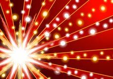 Abstrakter roter Weihnachtshintergrund Lizenzfreies Stockfoto