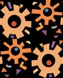 Abstrakter Rusty Gears Pattern Stockfotografie