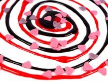 Abstrakter süßer Twister Stockbild