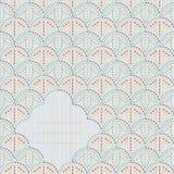 Abstrakter sashiko Hintergrund mit Kopienraum für Text Stockfotos