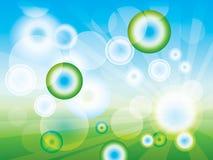 Abstrakter sauberer grüner Hintergrund (in EPS-10) Stockbilder