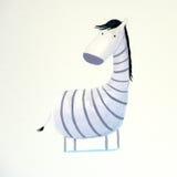 Abstrakter Schätzchen Zebra Stockfotos
