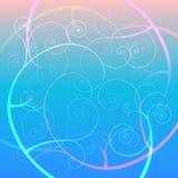 Abstrakter schöner blauer Blumenhintergrund Lizenzfreie Abbildung