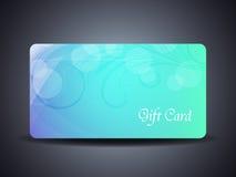 Abstrakter schöner Geschenkkartenentwurf Stockbilder