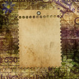 Abstrakter schöner Hintergrund im Stil der gemischten Medien Lizenzfreie Stockfotografie