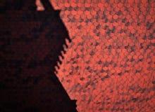 Abstrakter Schatten auf rotem mit Ziegeln gedecktem Dach Stockbild