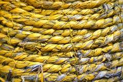 Abstrakter Schmutzhintergrund - gelbes trockenes Stroh Stockfotografie