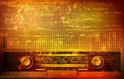 Abstrakter Schmutzhintergrund mit Retro Funk Stockbilder