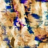 Abstrakter Schmutzhintergrund von den Farbchaotischen unscharfen Stellen b?rsten Anschl?ge von verschiedenen Gr??en stock abbildung