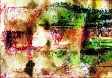 Abstrakter Schmutzhintergrund von den Farbchaotischen unscharfen Stellen b?rsten Anschl?ge von verschiedenen Gr??en lizenzfreie abbildung