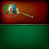 Abstrakter Musikhintergrund mit Logo Jazz und Magni Stockbild