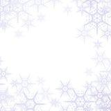 Abstrakter Schneeflocke-Hintergrund Lizenzfreies Stockbild
