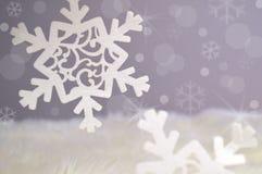 Abstrakter Schneeflockenhintergrund Lizenzfreie Stockbilder