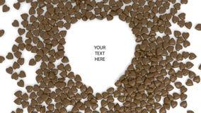 Abstrakter Schokoladenherz bokeh Hintergrund für Valentinstag 3d übertragen Abbildung 3D lizenzfreies stockfoto