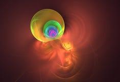 Abstrakter Schokoladenhintergrund mit buntem Blasenklecks Stockbild