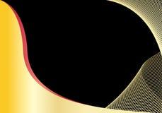 Abstrakter Schwarz- und Goldhintergrund mit copyspace Lizenzfreie Stockfotografie