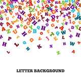 Abstrakter schwarzer Alphabetornamentrahmen lokalisiert auf weißem Hintergrund Stockfoto