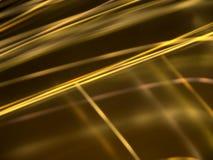 Abstrakter schwarzer Hintergrund mit Goldleuchtenden Linien Stockfotos