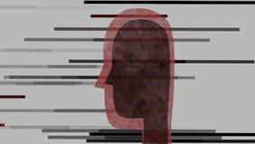 Abstrakter, schwarzer Kopf mit Linien lizenzfreie abbildung