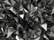 Abstrakter schwarzer kristallisierter Hintergrund lizenzfreie abbildung