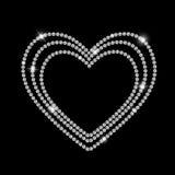 Abstrakter schwarzer LuxusDiamond Background Vector Lizenzfreies Stockbild