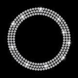 Abstrakter schwarzer LuxusDiamond Background Vector Lizenzfreie Stockfotografie