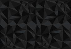 Abstrakter schwarzer Polygonmusterhintergrund-Beschaffenheitsvektor Lizenzfreie Stockbilder