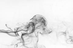 Abstrakter schwarzer Rauch stockfotos
