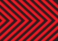 Abstrakter schwarzer roter Pfeilmuster-Hintergrundvektor Stockbild