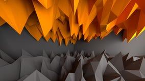 Abstrakter schwarzer und orange Hintergrund Stockbilder