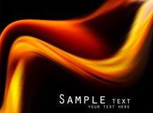 Abstrakter schwarzer und orange Hintergrund Lizenzfreie Stockfotografie