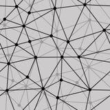 Abstrakter Schwarzweiss-nahtloser Nettohintergrund Stockfotos