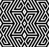 Abstrakter Schwarzweiss-Zickzack-Vektor-nahtloses Muster Stockbild