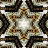 Abstrakter sechs-abschließender Stern mit Mustern. Lizenzfreie Stockfotos