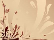 Abstrakter seidiger mit Blumenhintergrund Lizenzfreies Stockfoto