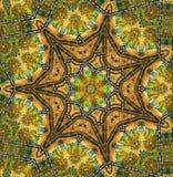 Abstrakter sieben-abschließender Stern mit Mustern. Lizenzfreie Stockfotografie
