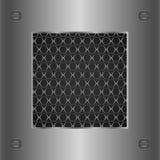 Abstrakter silberner metallischer Hintergrund Lizenzfreies Stockfoto