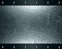Abstrakter silberner Stahlhintergrund Stockfotografie