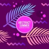 Abstrakter Sommer mit Tinten-nahtlosem Muster Stockbilder