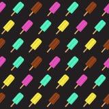 Abstrakter Sommer-nahtloser Muster-Hintergrund mit Eiscreme Auch im corel abgehobenen Betrag Stockfotos